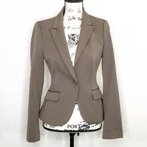 Express Brown On Button Blazer Size 4